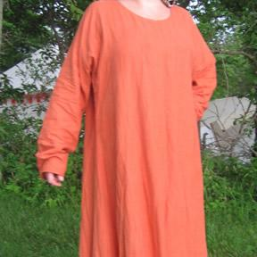 Image of Linen long sleeve gown basic and plus sizes