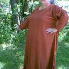 Image of Linen long sleeve gown extended size