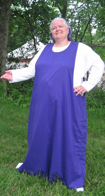 Image of Cotton long sleeve gown extended size